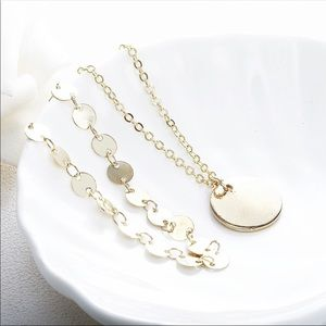 Jewelry - NEW DAINTY GOLD NECKLACE LAYERED CHOKER PENDANT